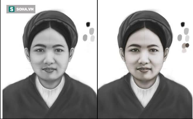 Hình ảnh người phụ nữ hiền hậu dần hiện ra.