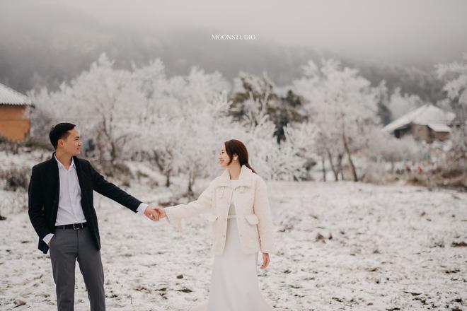 Thành quả của cặp đôi Hà Nội chụp ảnh cưới giữa mưa tuyết ở Y Tý: Sự tình cờ đầy may mắn - Ảnh 2.