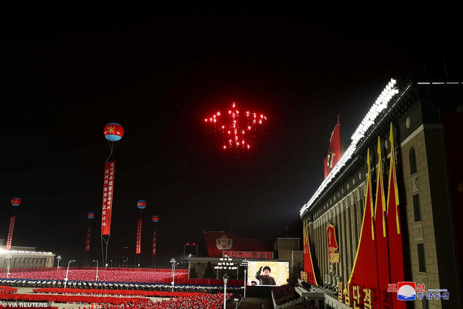 Ảnh: Triều Tiên bắn pháo hoa hoành tráng, đẹp mắt chào mừng Đại hội Đảng - Ảnh 5.