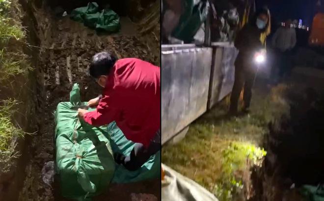 Kiểm tra xe tải đang bốc hàng, phát hiện 3,5 tấn thịt và nội tạng lợn hôi thối chuẩn bị bán dịp Tết
