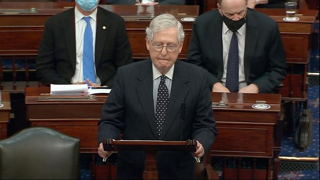 Thượng viện lên kế hoạch xét xử, đảng Cộng hoà tính toán khả năng kết tội Tổng thống Trump - Ảnh 1.