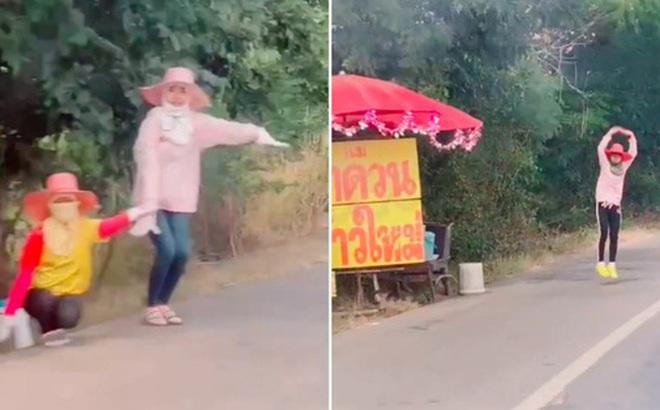 """Bán hàng cạnh tranh phong cách Thái Lan: Thấy khách đi ngang liền chào mời bằng cách này, dân mạng xem xong đều """"cười xỉu up xỉu down"""""""
