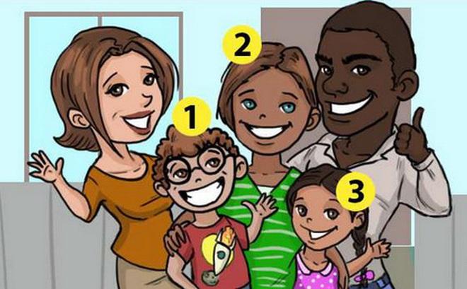 Câu đố 3 giây: Theo bạn, đứa trẻ nào là con nuôi của gia đình trong tranh?