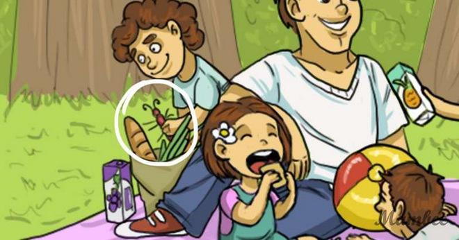 Giải đố trong 5 giây: Bạn hãy tìm ra chi tiết phi lý trong bức tranh đi picnic - Ảnh 2.