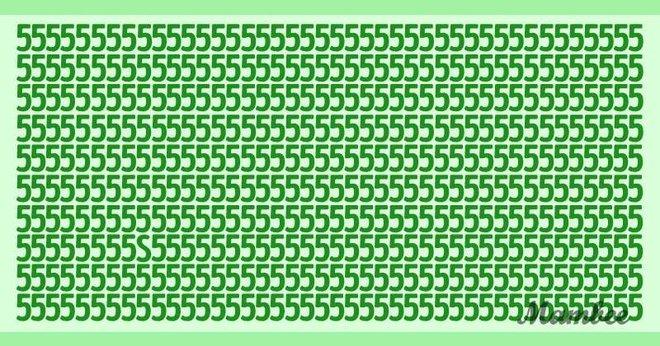 Thách thức thị giác 5 giây: Bức ảnh toàn số 5 có giấu một chữ cái, đố bạn nhìn ra chữ gì - Ảnh 1.