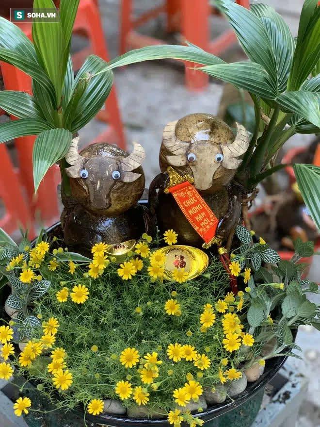 Sọ dừa bỏ đi được biến thành trâu cõng vàng, giá tiền triệu  - Ảnh 3.