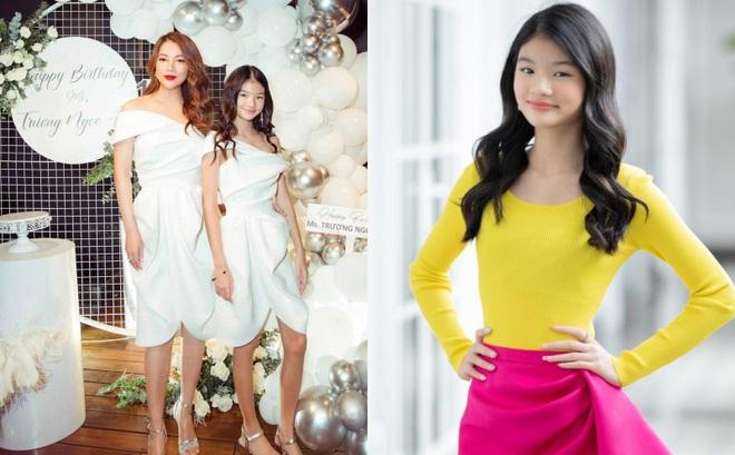"""Nhan sắc con gái xinh đẹp, 13 tuổi đã được dự đoán là """"hoa hậu tương lai"""" của Trương Ngọc Ánh - Trần Bảo Sơn"""