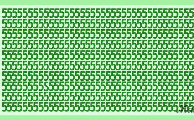 Thách thức thị giác 5 giây: Bức ảnh toàn số 5 có 'giấu' một chữ cái, đố bạn nhìn ra chữ gì