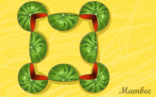 Câu đố giải mã bộ não: Bạn thấy có bao nhiêu quả dưa hấu trong tranh?