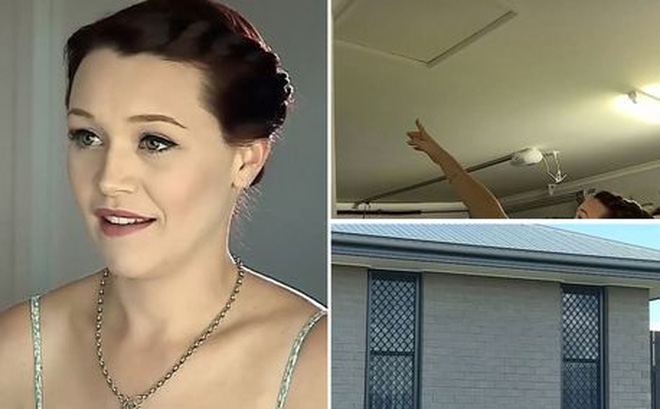 Thấy đồ dùng tự dưng di chuyển, bà mẹ âm thầm theo dõi và phát hiện chuyện gây sốc trên trần nhà