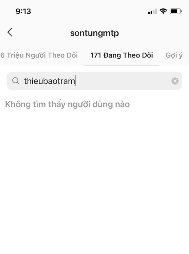 Sơn Tùng M-TP hủy theo dõi Thiều Bảo Trâm, chuyện tình 8 năm chính thức kết thúc - Ảnh 3.