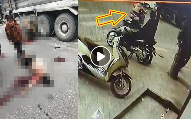 Khoảnh khắc 2 người phụ nữ lao vào gầm xe ben giữa ngã tư, hiện trường gây ám ảnh