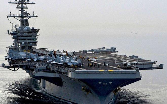 Nhóm tác chiến tàu sân bay Mỹ tiến vào biển Đông