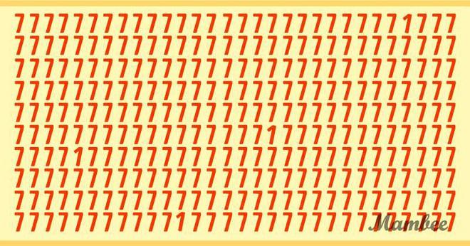 Thách thức thị giác 15 giây: Bạn hãy tìm 4 số 1 lẩn trong rừng số 7 - Ảnh 1.