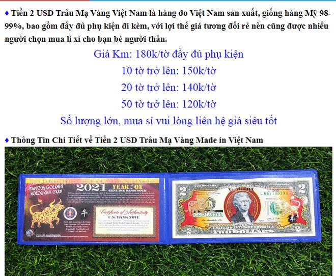 """Đón tết Tân Sửu, """"sốt sình sịch"""" với tiền lì xì 2 USD in hình con trâu - Ảnh 2."""