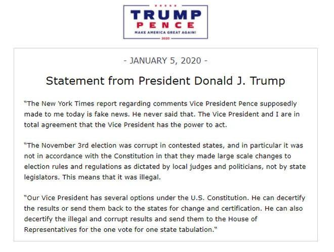 TT Trump lên tiếng phản bác tin giả sau bài báo về cấp phó, hé lộ về các lựa chọn của ông Pence - Ảnh 1.