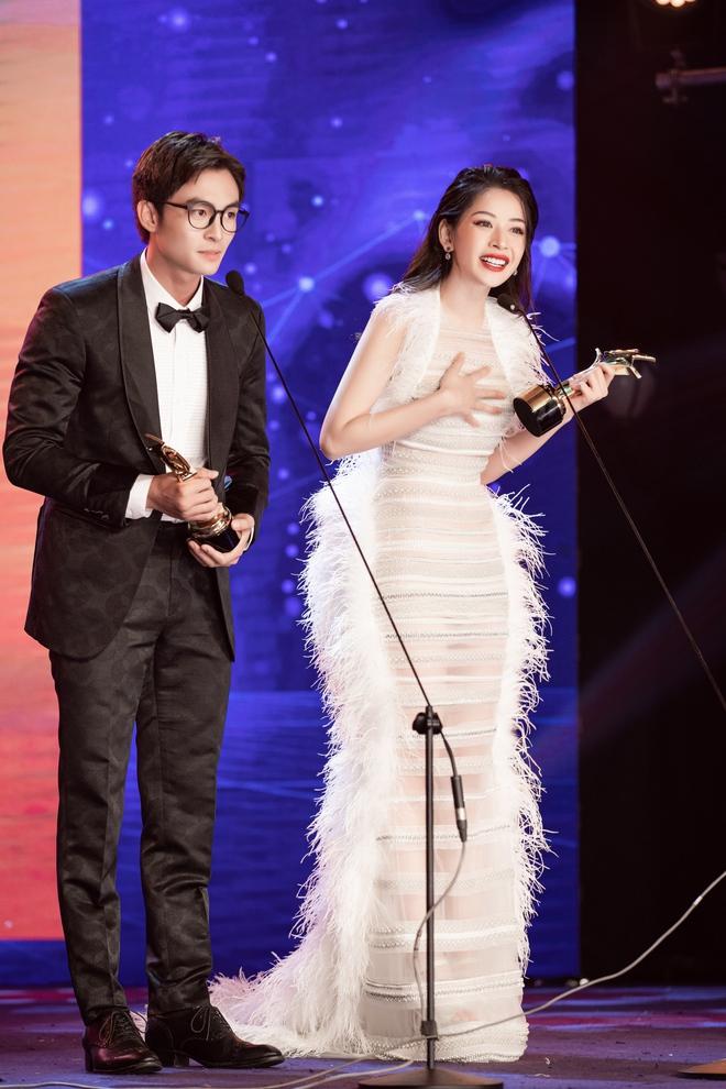 Chi Pu xúc động khi thắng giải Nữ diễn viên được yêu thích nhất - Ảnh 8.