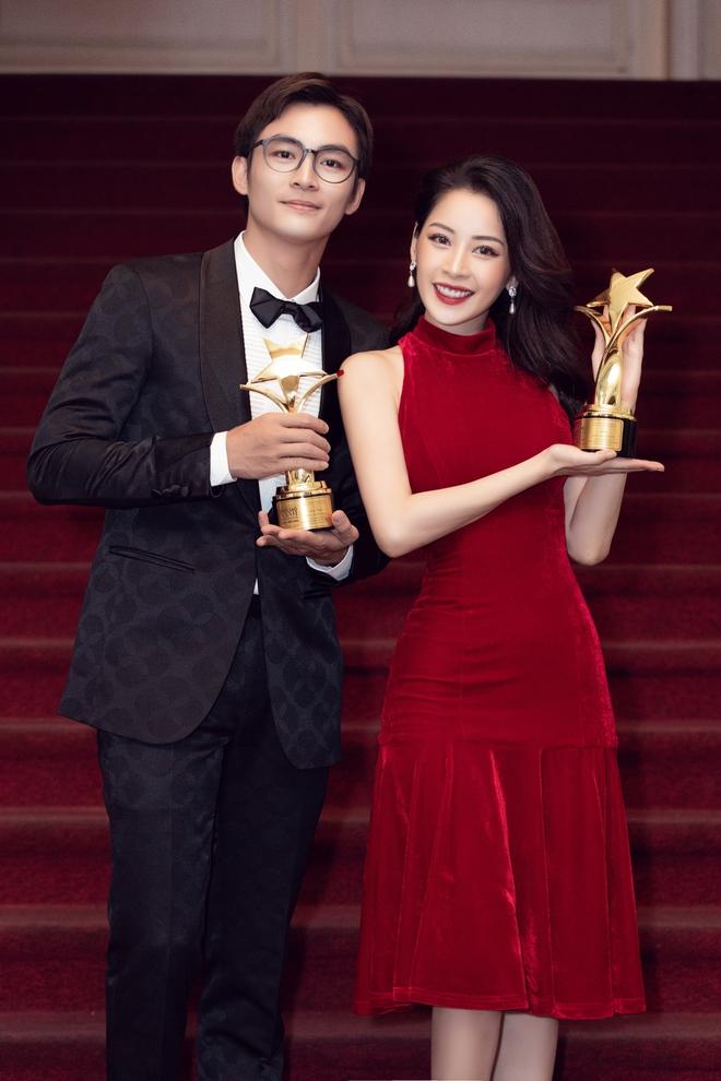 Chi Pu xúc động khi thắng giải Nữ diễn viên được yêu thích nhất - Ảnh 10.