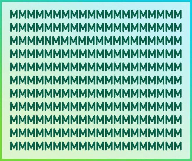 Thách thức thị giác: Đố bạn tìm ra chữ cái lạc loài trong vòng 10 giây - Ảnh 1.