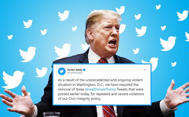 Thủ đô Mỹ bạo loạn chưa từng có, Twitter khóa tài khoản của ông Trump trong 12 giờ, dọa ngừng vĩnh viễn