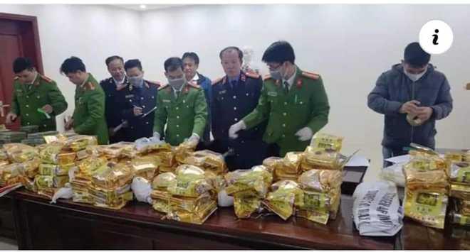 Cảnh sát bắn chỉ thiên, chặn xe ô tô chở 8 bao tải ma túy trị giá cả trăm tỷ đồng - Ảnh 2.