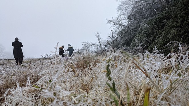 Du khách lên đỉnh Pia Oắc ngắm băng tuyết - Ảnh 6.