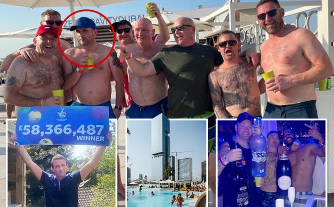Trúng số 1825 tỷ, anh chàng rủ 7 ông bạn thân đi Dubai đập phá 1 chuyến khiến dân tình lác mắt