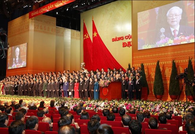 Ảnh: Toàn cảnh phiên bế mạc Đại hội đại biểu toàn quốc lần thứ XIII của Đảng - Ảnh 9.
