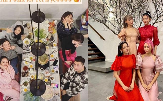Hội bạn hotgirl Hà Thành của Chi Pu mở tiệc tất niên nhưng khác hẳn mọi năm: 3 thành viên tụ họp, còn Quỳnh Anh Shyn?