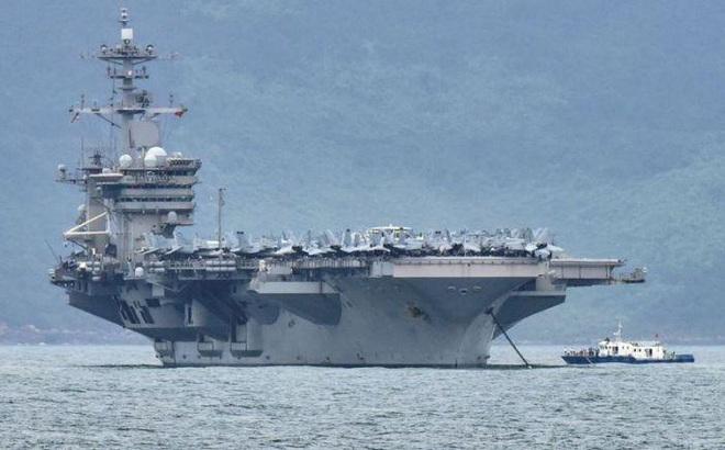 """Tàu sân bay Mỹ rầm rập """"quần thảo"""" Biển Đông, Trung Quốc tức giận"""