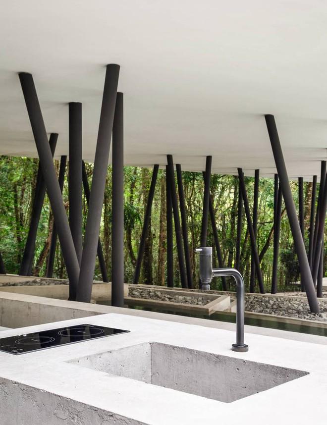 Ngôi nhà với những cây cột đen sì, xuất hiện lổn nhổn - Ảnh 10.