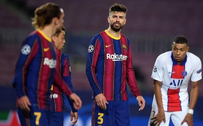 Hai sao Barca chửi nhau trong trận thua thảm PSG