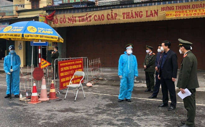 Bí thư Hải Dương phê bình lãnh đạo huyện Cẩm Giàng trong chống dịch Covid-19