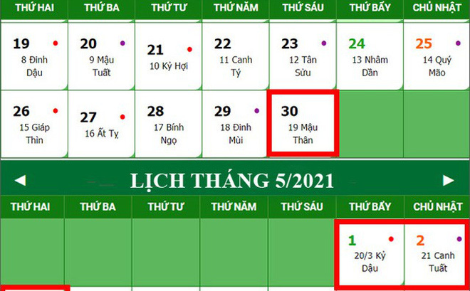 Kỳ nghỉ lễ lớn thứ 2 sắp tới trong năm 2021 kéo dài mấy ngày?