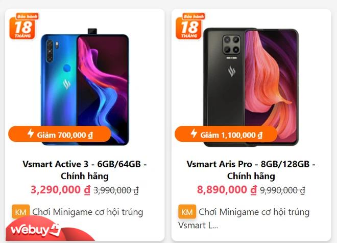 """Dàn điện thoại Vsmart giảm giá cả triệu đồng sau Tết, giá Aris Pro bản cao cấp cực """"mềm"""" - Ảnh 1."""