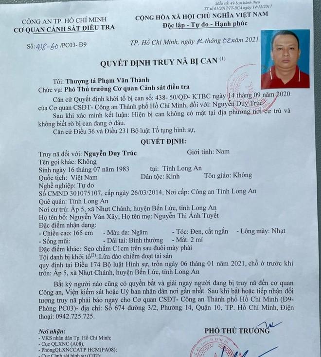 Công an TP HCM truy nã Nguyễn Duy Trúc - Ảnh 2.