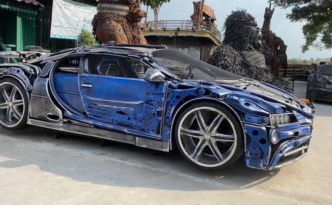 Thợ Đông Nam Á chế tạo bản sao Bugatti Chiron từ... sắt vụn độc nhất vô nhị