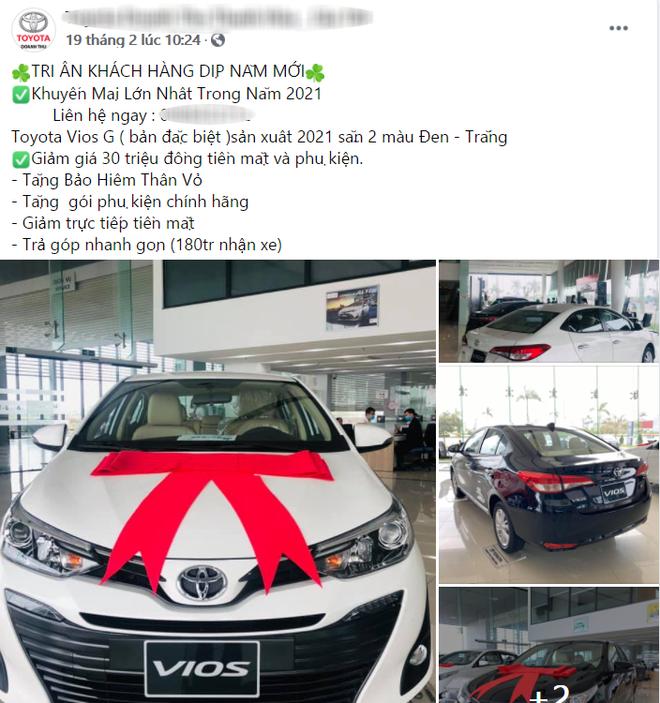 Toyota Vios giảm giá 30 triệu đồng dọn kho trước giờ G bản nâng cấp ra mắt - Ảnh 1.