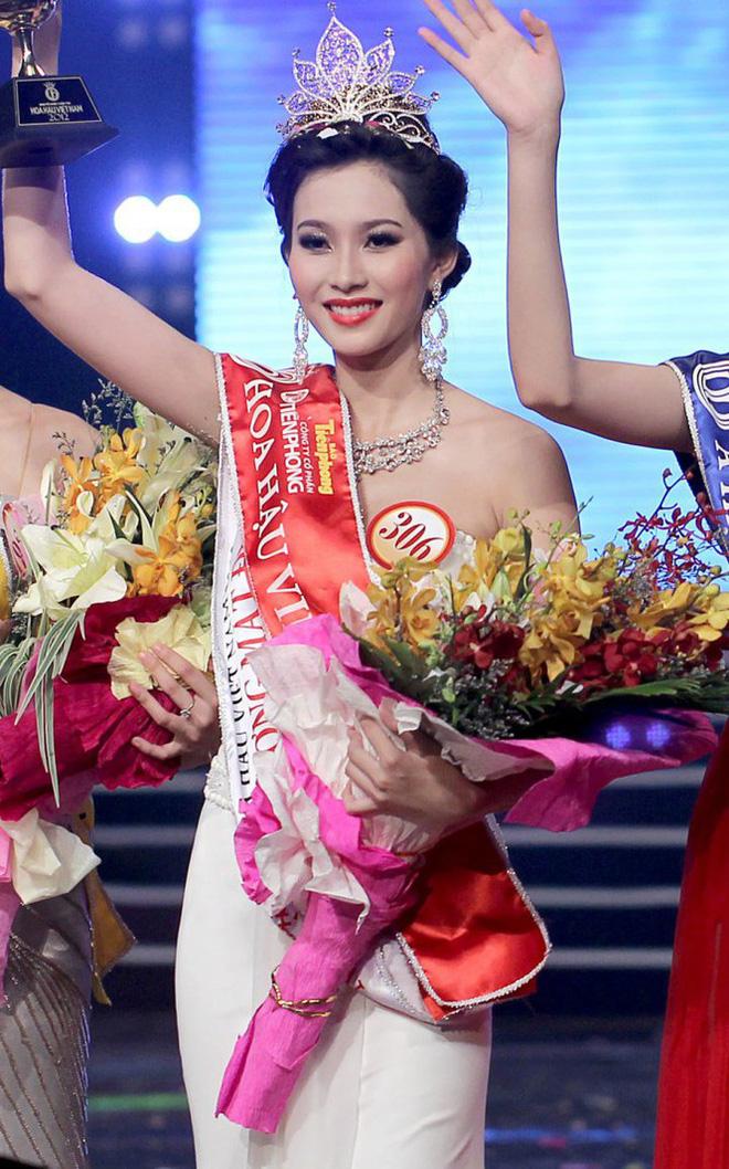 Top 3 HHVN 2012: Hoa hậu Đặng Thu Thảo và 2 á hậu đều có hôn nhân viên mãn - Ảnh 1.