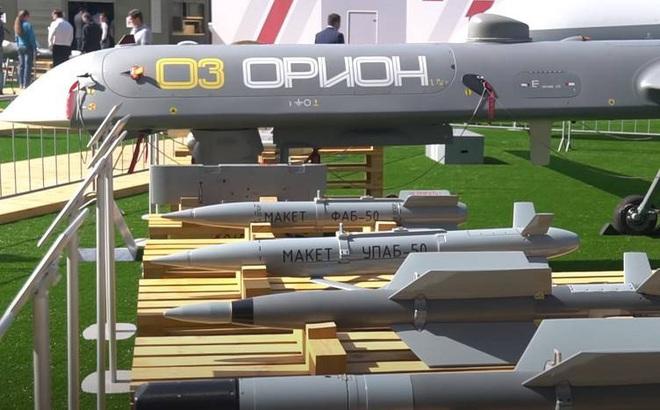 """Mãn nhãn với video thử nghiệm máy bay không người lái """"Orion"""" của Nga ở Syria"""