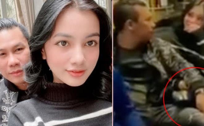 """Lộ clip gái xinh An Giang 2k2 ngồi với chồng cũ Lệ Quyên, bàn tay của đại gia tiết lộ mối quan hệ đặc biệt """"trên tình bạn"""""""