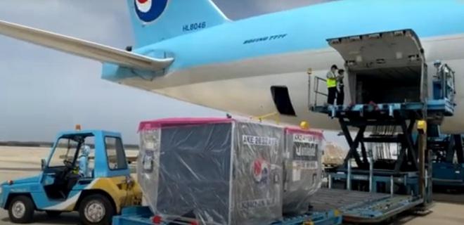 Máy bay chở lô vắc xin COVID-19 đầu tiên về tới Việt Nam, Thứ trưởng Bộ Y tế Trương Quốc Cường ở sân bay tiếp nhận - Ảnh 2.