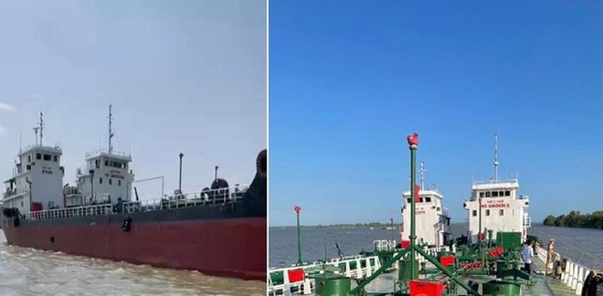 Gay cấn đường dây buôn bán xăng giả 'khủng, tìm thấy 2 tàu chống trả nhằm bỏ trốn - ảnh 1