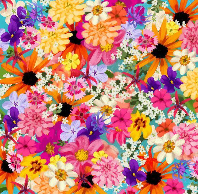 Thách thức thị giác 3 giây: Đố bạn nhìn ra con sao biển trong bụi hoa sắc màu - Ảnh 1.