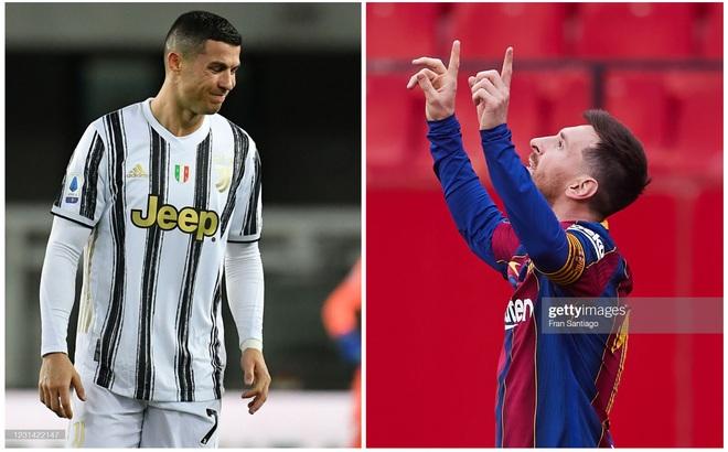 """Messi """"gánh đội"""", thắp sáng hi vọng của Barca; Ronaldo chán nản nhìn chiếc cúp dần xa tầm tay"""