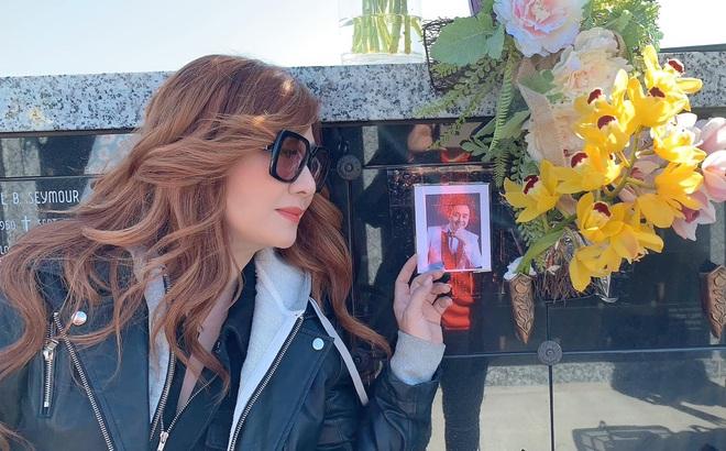 Vợ cũ Bằng Kiều chia sẻ xúc động khi thăm nơi an nghỉ của cố nghệ sĩ Chí Tài