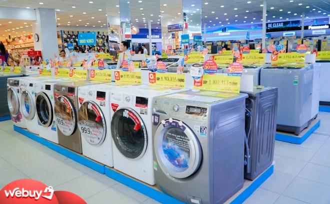 """Giá máy giặt lồng ngang 8,5-9,5kg giảm """"sốc"""", dòng giặt sấy rẻ hơn 5 triệu đồng mùa nồm ẩm"""