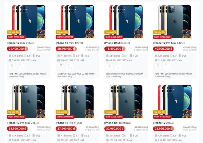 Đồng loạt giảm giá mạnh, iPhone 12 chạm đáy tại Việt Nam - Ảnh 1.