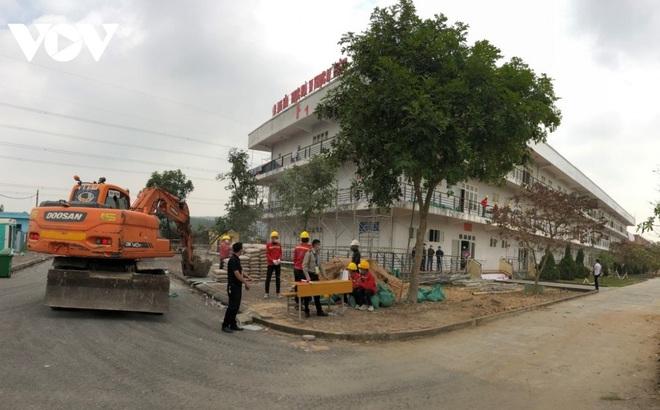 Khẩn trương thi công bệnh viện dã chiến số 3 tại Hải Dương