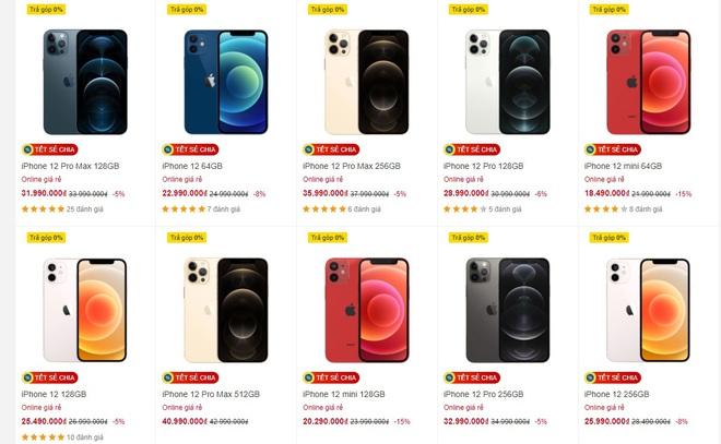 Đồng loạt giảm giá mạnh, iPhone 12 chạm đáy tại Việt Nam - Ảnh 2.